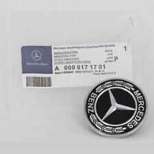FOR Mercedes Benz Hood Black Flat Laurel Wreath Front Badge Car Logo Emblem 57mm