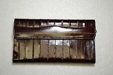 genuine eel skin check book wallet for women.