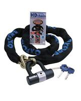 OXFORD HD SOLD SECURE APPROVED MOTORCYCLE CHAIN LOCK 1.5M BIKE SCOOTER SECURITY