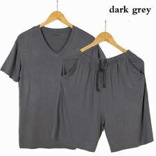 Men Modal Pajamas Sets Nightwear Loungewear Casual Over Size V Neck Fashion