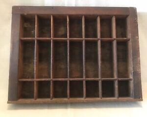 Antique Hamilton Mfg Co Printing Letter Press Drawer Shelf Small 11.5 X 8.5 Wood