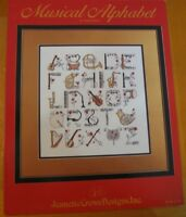 MUSICAL ALPHABET  -  CROSS STITCH  LEAFLET