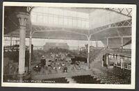 Postcard Bournemouth Dorset interior of Winter Gardens posted 1912