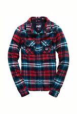 NUOVO RRP £ 49.99 da donna XS taglia 8 Superdry fresato Camicia di flanella Cherry Controllo Aqua