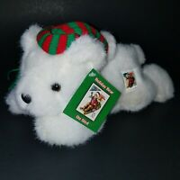 Holiday Polar Bear Collectible Stamp Plush USPS White Stuffed Animal Toy 32 cent