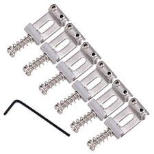 6Pc Chrome Flat Saddles w/ Wrenc for Fender Strat Electric Guitar Tremolo Bridge