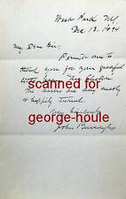 John Burroughs - Letter - Signed - 1894 - Naturalist / Author + Envelope