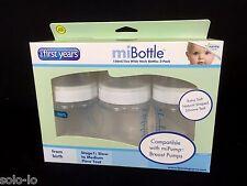 3 x The First Years Wide Neck Feeding Nurser baby Bottle Stage 1 BPA Free 150 ml