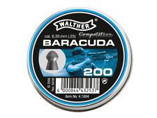 Walther Baracuda cal. .25 6.35 mm 200 pcs. 2.01g Air rifle Pellets Airgun pellet