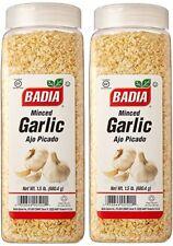 2 Pack Badia Garlic Minced Dried Flakes Ajo Picado Seco 24 Oz 1.5 Lbs