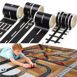 Kids Children's Play Road & Railway Track Tape Stickers for Toy Cars& Trains UK