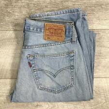 """Mens LEVIS 501 Blue Stonewashed 31""""W 36""""L Vintage Denim Jeans 501s #F3706"""