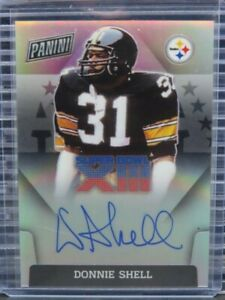 2020 Panini Donnie Shell Super Bowl XIII Auto Autograph Steelers Z101