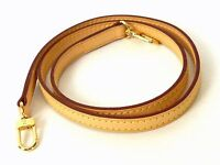100% Authentic LOUIS VUITTON Leather Shoulder Strap Brown Excellent M941