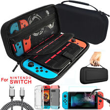 For Nintendo Switch Travel Hard EVA Case Bag+Protector+Cable+Cover Accessories