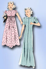 1930s Vintage Butterick Sewing Pattern 7685 Uncut Toddler Girls Housecoat Size 6