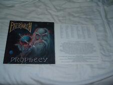 PATRIARCH Prophecy '91 VERY RARE prog. power metal ORIG GERMAN IMPORT !!! press
