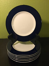 1 PAGNOSSIN TREVISO Crate & Barrel  Normandy Cobalt Blue Dinner Plate No Crazing