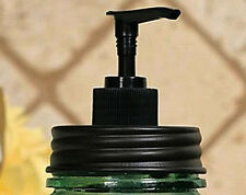 Unique Rustic Vintage Black MASON Fruit Jar Soap Lotion Dispenser LID and PUMP