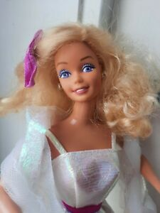 """STUNNING  1980s """"CRYSTAL""""  BARBIE DOLL WITH LILAC EYES WEARING ORIGINAL DRESS"""
