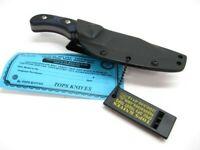 Tops DEUT-03 Black Blue G-10 Delta Unit 3 Fixed Survival Hunting Knife + Sheath