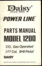 *Copy Daisy Power Line Model 1200 BB Pistol Gun Illustrated Parts List Manual
