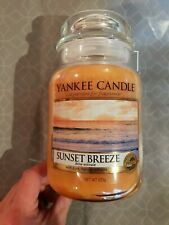 Yankee Candle Large Jar - Sunset Breeze htf scent pineapple mango, pear, musk 1