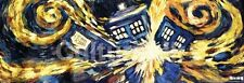 TELEVISION DOOR POSTER Doctor Who Exploding TARDIS