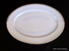 "Royal Doulton Royal Platinum 14"" Oval Serving Platter White Platinum Band & Trim"