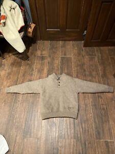 Cabela's Windshear Sweater Sz 100% Wool Hunting