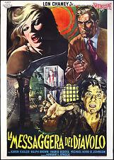 CINEMA-manifesto LA MESSAGGERA DEL DIAVOLO chaney jr., kadler, L. STROCK