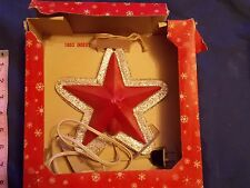 Vintage Ringalite Decoration Star Electric Plugin Lights Up Christmas BOXED