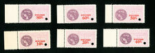 Guadeloupe Stamps Xf Og Nh Tax Set of 6x Specimens