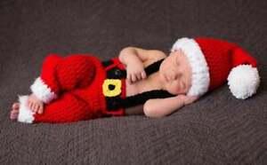 Baby Christmas Outfit Newborn Santa Outfit Christmas Photo Prop Baby Santa Hat