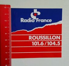 ADESIVI/Sticker: radio France Roussillon 101.6/104.5 (15081649)