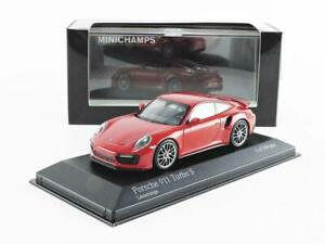 Minichamps 410067170 Porsche 911 Turbo S 2016 Red 1:43 Scale