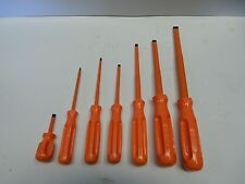 "SIBILLE INSULATED SCREWDRIVER SET 1/8"" THRU 1/2"" SLOTTED / STRAIGHT 6pc SET NEW"