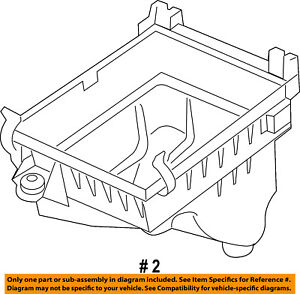 CHRYSLER OEM Air Cleaner Intake-Box Body Lower 68084276AA