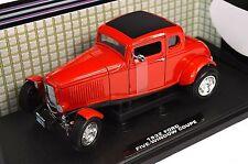 Ford 1932 modelo de una ventana 5 Coupé Hot Rod Rojo 1:18 Motormax 73171