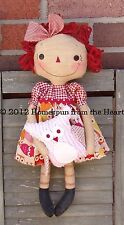Primitive Pattern Hoots and Annie A Prim Doll & Owl  to make ! #HFTH