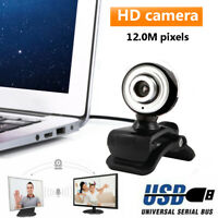 HD Webcam Camera Web Cam With Microphone USB 2.0 For Laptop PC Windows 7/8/10