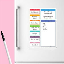 Whiteboard Soft Durable A4 Family Planner Meal Diet