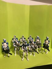 Star Wars blue 501st legion clone trooper Lot Arc Trooper  Heavy Airborne Appo