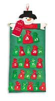Large Christmas Advent Calendar - Santa Elf Cute Hanging 24 Pockets Stocking