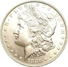 1880-O 90% Silver Morgan Dollar $1.00  AU++++   Large Die Crack Error A-12