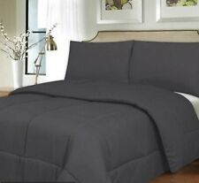 100% EGYPTIAN COTTON COMFORTER SOLID ALL SIZE AVAILABLE IN ELEPHANT GREY COLOR