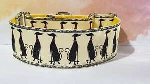 Elegant hounds . 50mm Martingale Collar. Greyhound