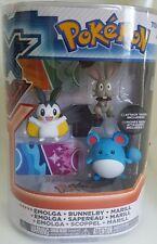 Pokemon XY: Emolga Bunnelby Marill Figure Pack by Tomy