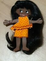 IDEAL FLATSY DOLL TRIXIE *RARE* 1969 African American VINTAGE CLOTHES *5in READ