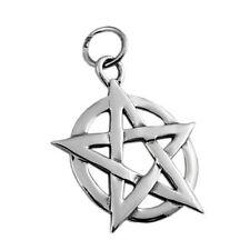 925 Sterling Silver Pentagram Star Pendant 1 inch Big High Polished